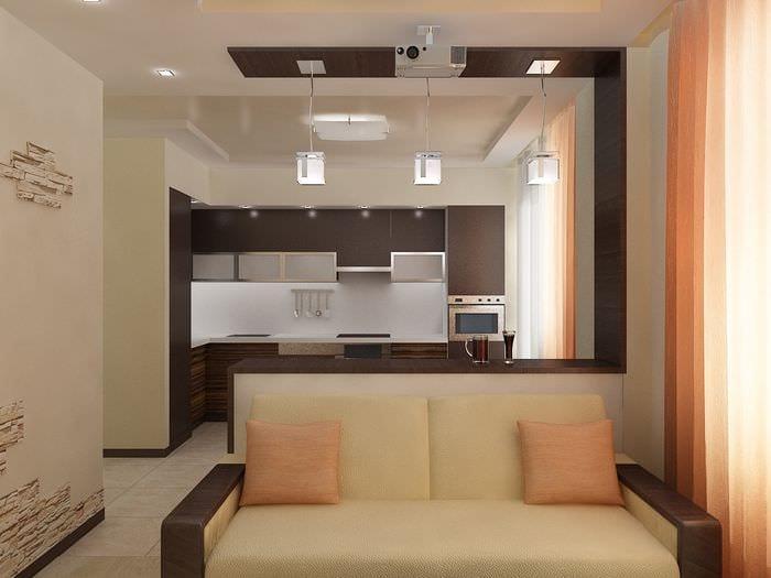 идея светлого дизайна двухкомнатной квартиры в хрущевке